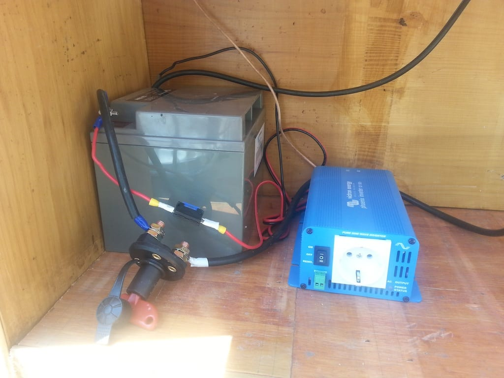 Batterie et convertisseur electricité solaire